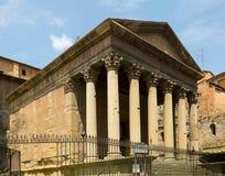 Templo romano antiguo en Vic Imagen de archivo libre de regalías