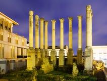 Templo romano antiguo por la tarde Córdoba Imagen de archivo libre de regalías