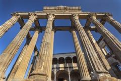 Templo romano de Diana en Mérida Foto de archivo libre de regalías