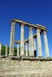 Templo romano de Evora Fotografía de archivo libre de regalías