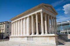 Templo romano de Nimes Foto de archivo libre de regalías