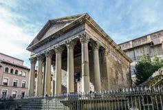 Templo romano de Vic, España Foto de archivo libre de regalías