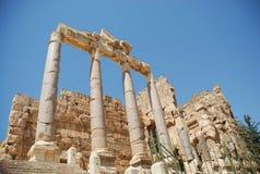 Templo romano del bacchus de las ruinas Foto de archivo libre de regalías
