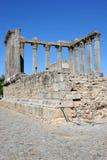 Templo romano en Evora Imagen de archivo libre de regalías