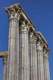 Templo romano en la ciudad de Evora Fotos de archivo libres de regalías
