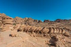 Templo romano en la ciudad nabatean de petra Jordania Fotografía de archivo libre de regalías