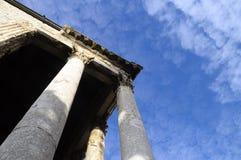 Templo romano en las pulas, Croacia Fotografía de archivo