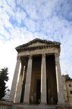 Templo romano en las pulas, Croacia Foto de archivo libre de regalías
