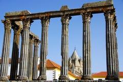 Templo romano en Portugal. Fotografía de archivo