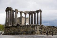 Templo romano Evora Portugal Imagen de archivo