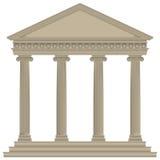 Templo romano/griego Fotos de archivo