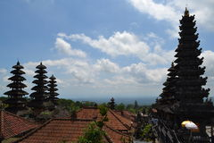 Templo sacro de Bessakih en la isla de Bali Imagen de archivo libre de regalías