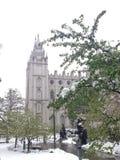 Templo Salt Lake City Utah Fotografía de archivo
