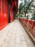 Templo santo del taoist de la montaña del Shan de Qingcheng de la provincia de China Sichuan fotos de archivo