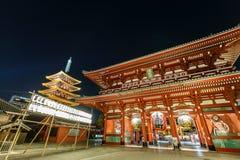 Templo Senso-ji en Asakusa, Tokio, Japón Imagen de archivo