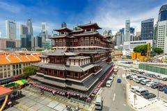 Templo Singapur de la reliquia del diente de Buda fotos de archivo