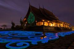 Templo Sirindhorn Wararam, templo de PhuProud, Wat tailandês no rato de Ubon Foto de Stock Royalty Free