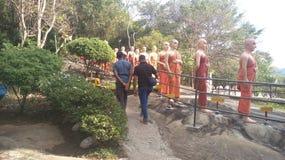 Templo Sri Lanka kandy de Ranavana foto de stock