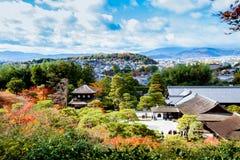 Templo superior de Ginkakuji de la visión Imágenes de archivo libres de regalías