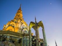 Templo Tailândia da Buda na noite Foto de Stock Royalty Free