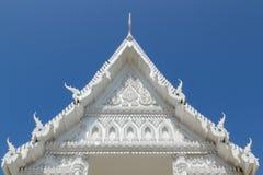 Templo tailandés blanco fotografía de archivo