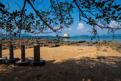 Templo tailandés Chruch en el mar Fotografía de archivo libre de regalías