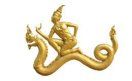 Templo tailandés de la pared del estilo del arte Fotografía de archivo