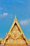 Templo tailandés del ápice del aguilón foto de archivo libre de regalías