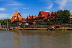 Templo tailandés en Ayutthaya en Tailandia Imagenes de archivo