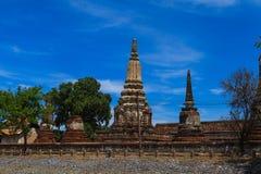 Templo tailandés en Ayutthaya en Tailandia Foto de archivo