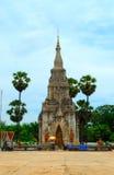 Templo tailandés en el ROI y la provincia Fotografía de archivo