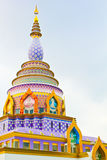Templo tailandés en la colina Fotografía de archivo libre de regalías