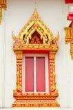 Templo tailandés tradicional de la ventana del estilo Foto de archivo libre de regalías