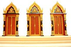 Templo tailandés tradicional de la ventana del estilo Fotografía de archivo libre de regalías