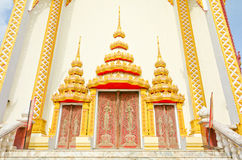 Templo tailandês da porta, Khonkaen Tailândia Fotos de Stock Royalty Free