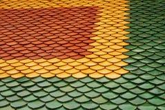 Templo tailandês da telha de telhado Imagens de Stock Royalty Free