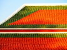 Templo tailandês do telhado da arquitetura da arte Imagens de Stock Royalty Free