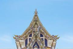 Templo tailandês Gable Roof Style de Buddist imagem de stock royalty free