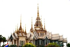 Templo tailandês no fundo branco Foto de Stock Royalty Free