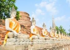 Templo tailandês Watyaichaimongkol Fotos de Stock