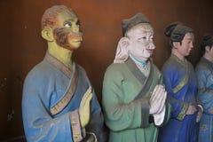 Templo tao del Taoist en Pekín China con departamentos religiosos de las estatuas de vida futura imagenes de archivo