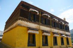 Templo tibetano del estilo Fotografía de archivo libre de regalías
