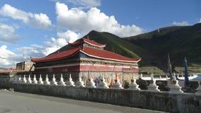 Templo tibetano em Xinduqiao, Sichuan Imagens de Stock Royalty Free