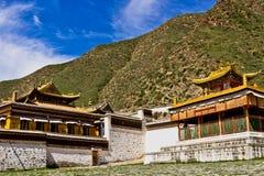 Templo tibetano, Labrang Lamasery Fotografia de Stock Royalty Free