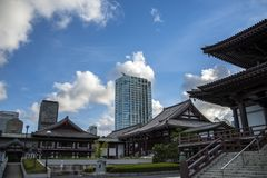 Templo Tokio de Zoji-Ji fotos de archivo