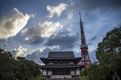 Templo Tokyo de Zoji-Ji imagens de stock