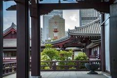Templo Tokyo de Zoji-Ji imagens de stock royalty free