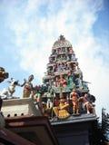 Templo tradicional do Hinduísmo em Singapura imagens de stock royalty free