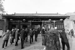 Templo turístico del chenghuangmiao de xian de la visita, adobe rgb Imágenes de archivo libres de regalías
