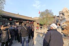 Templo turístico del chenghuangmiao de xian de la visita, adobe rgb Fotografía de archivo libre de regalías